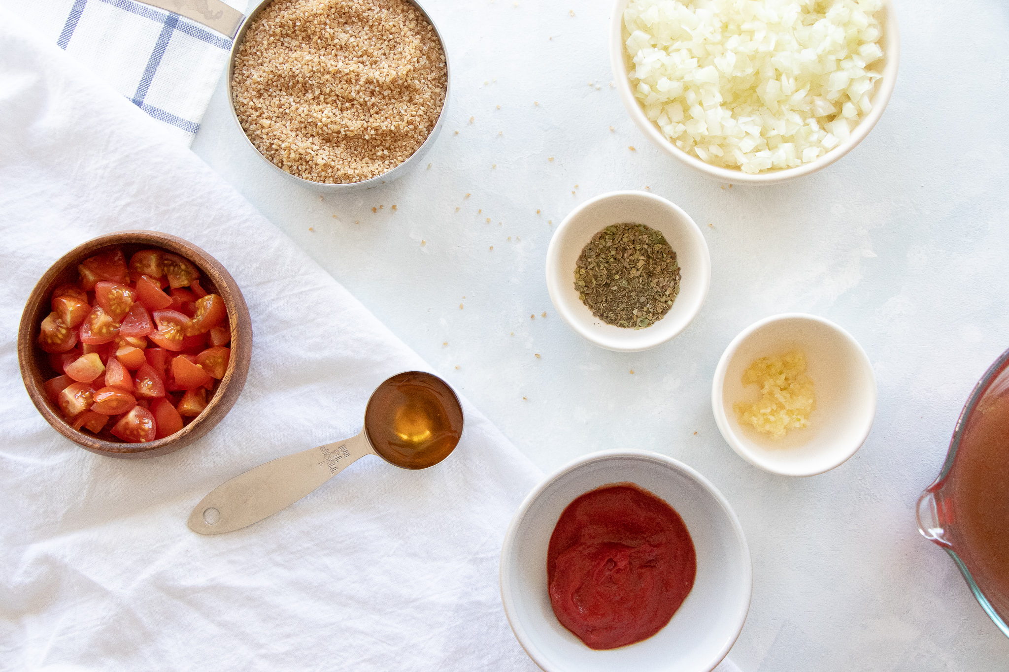 Wild rice pilaf ingredients